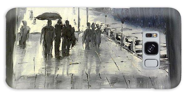 Rainy City Street Galaxy Case