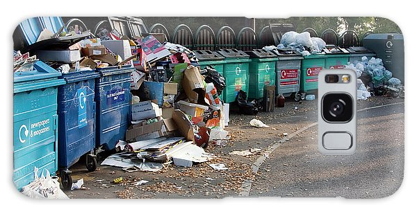 Rubbish Bin Galaxy Case - Recycling Site by David Taylor/science Photo Library