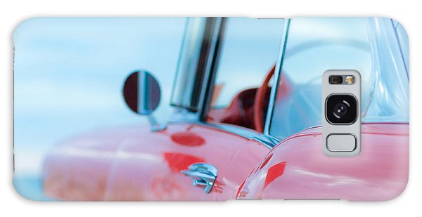 Aspect Galaxy Case - Red Chevy '57 Bel Air At The Beach Square by Edward Fielding