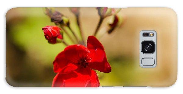 Red Flower Galaxy Case
