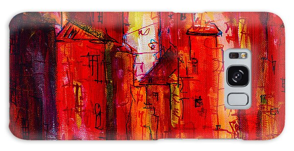 Red Rainy City 2 Galaxy Case