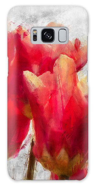 Red Tulips Galaxy Case by Celso Bressan
