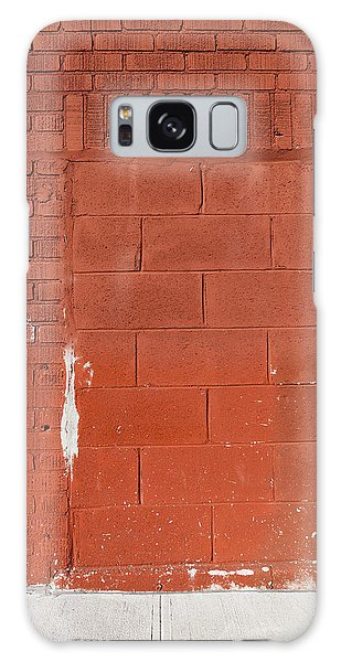 Red Wall With Immured Door Galaxy Case