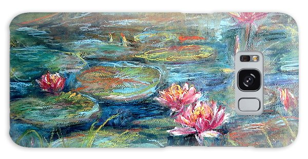 Red Waterlily Galaxy Case by Jieming Wang