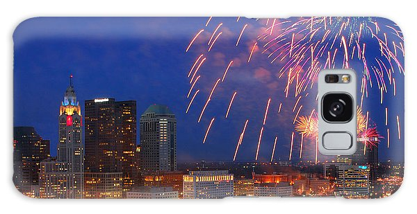 Red White And Boom Photo Galaxy Case