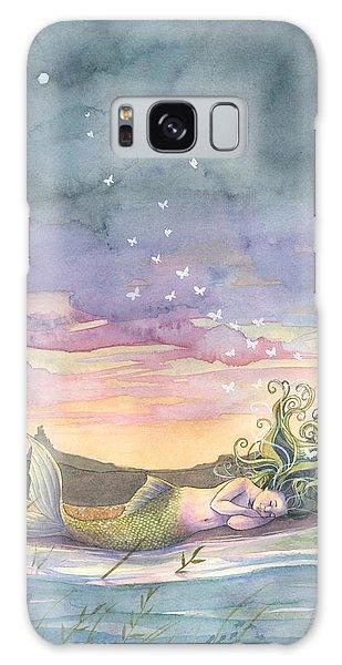 Rest On The Horizon Galaxy Case by Sara Burrier