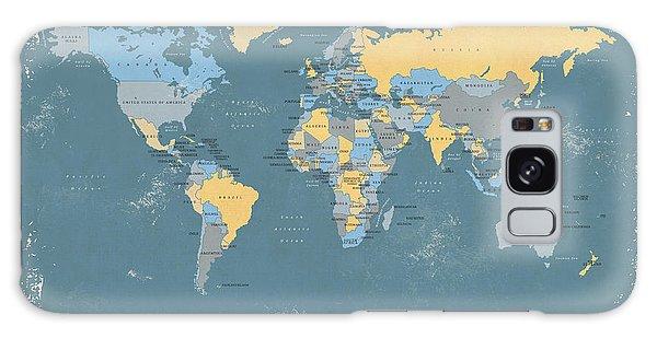 Retro Political Map Of The World Galaxy Case