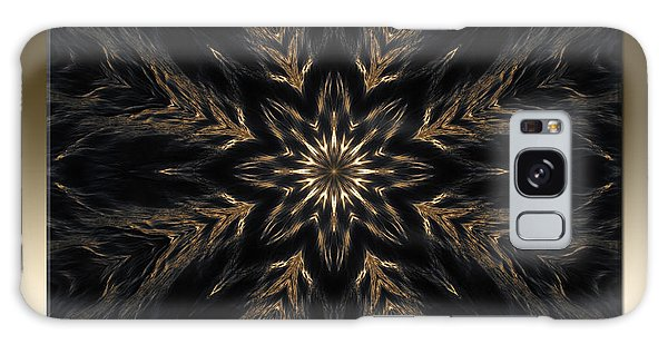 Ripples Of Gold Galaxy Case by Michele Kaiser