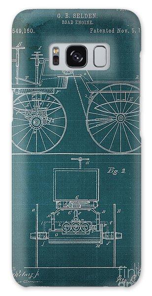 Blueprint Galaxy Case - Road Engine Patent 1895 by Drawspots Illustrations