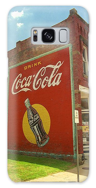 Route 66 - Coca Cola Ghost Mural Galaxy Case by Frank Romeo