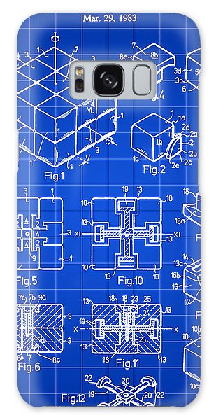 Rubik's Cube Patent 1983 - Blue Galaxy Case by Stephen Younts