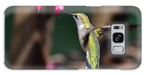 Ruby Throat Hummingbird Galaxy Case