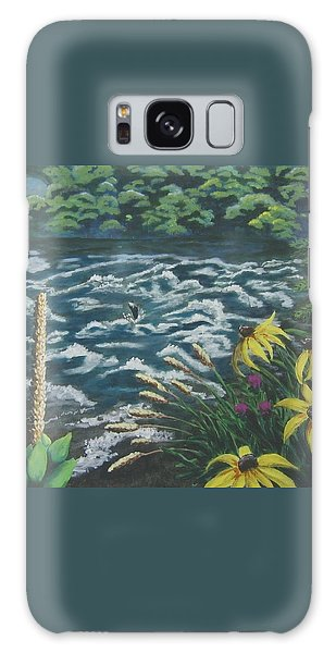 Rushing Water Galaxy Case by Suzanne Theis