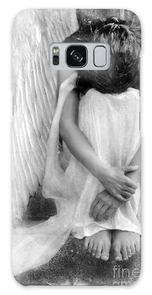 Sad Angel Woman Galaxy Case