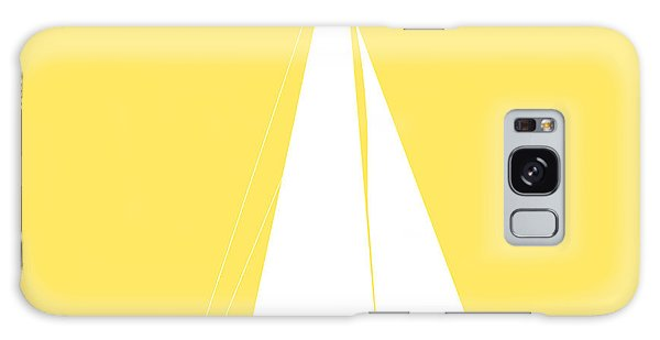 Sailboat In Yellow And White Galaxy Case