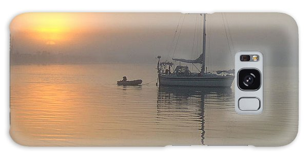 Sailboat Reflection Galaxy Case
