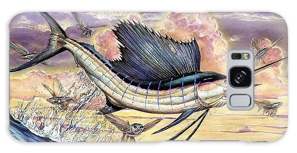 Sailfish And Flying Fish In The Sunset Galaxy Case