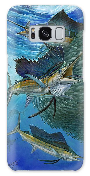 Sailfish With A Ball Of Bait Galaxy Case