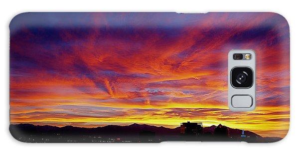 Salt Lake City Sunset Galaxy Case