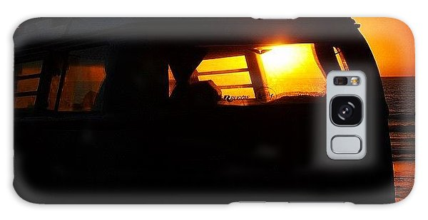 Vw Bus Galaxy Case - Vw Bus At Sunset by Hal Bowles