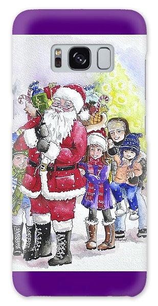 Santa And Children Galaxy Case