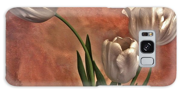 Satin Tulips Galaxy Case by Marsha Heiken