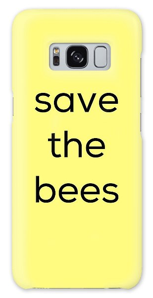 Save The Bees Galaxy Case by Kim Fearheiley