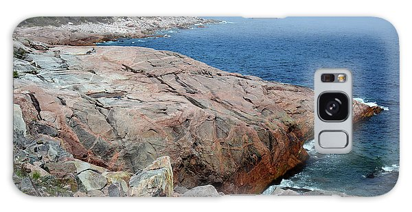 Cabot Trail Galaxy Case - Scenic View Of Exposed Bedrock by Darlyne A. Murawski