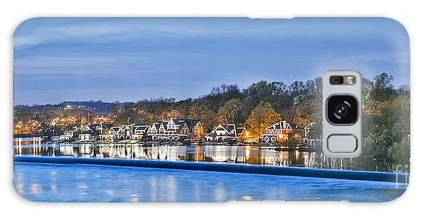 Schuylkill River  Boathouse Row Lit At Night  Galaxy Case