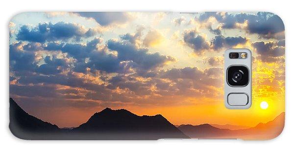 Beautiful Sunrise Galaxy Case - Sea Of Clouds On Sunrise With Ray Lighting by Setsiri Silapasuwanchai