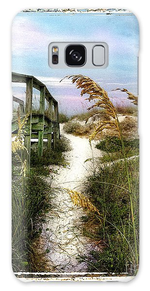 Seaoats Path Galaxy Case by Linda Olsen