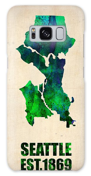 Seattle Watercolor Map Galaxy Case