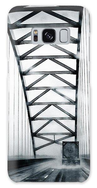 Semi On A Bridge In The Rain Galaxy Case