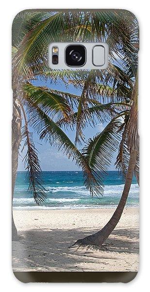 Serene Caribbean Beach  Galaxy Case