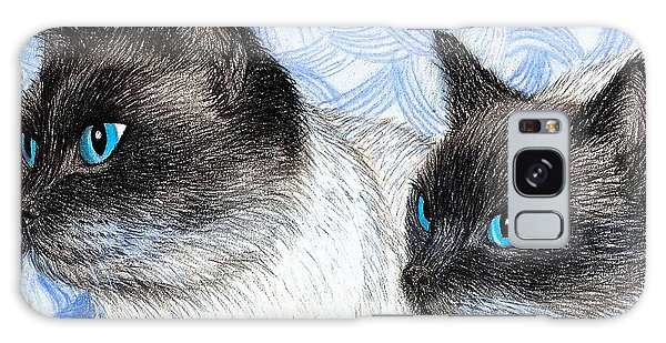 Siamese Cats Galaxy Case