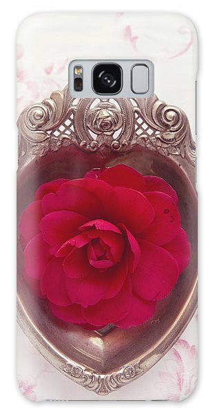 Silver Heart - Red Camellia Galaxy Case