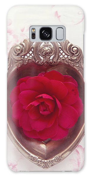 Silver Heart - Red Camellia Galaxy Case