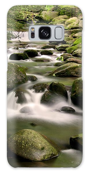 Smoky Mountain Stream Galaxy Case by Cindy Haggerty