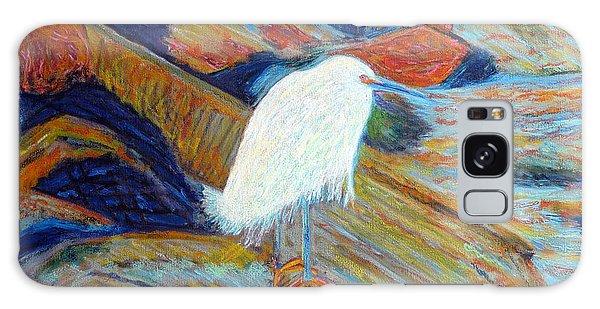 Snowy Egret At Marina Galaxy Case by Gerhardt Isringhaus