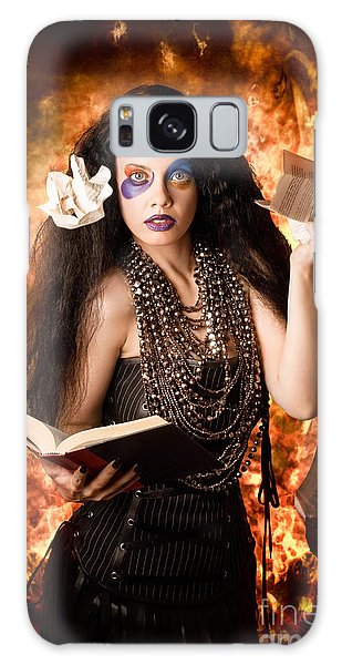 Voodoo Galaxy Case - Sorcerer Casting Black Magic Spells Of Fire by Jorgo Photography - Wall Art Gallery