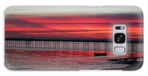 Southend Pier Sunset Galaxy Case