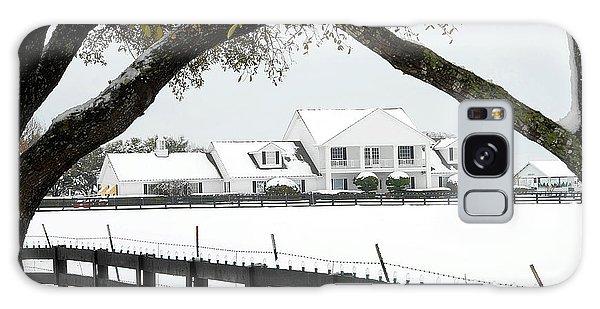 Southfork Ranch In Winter Galaxy Case