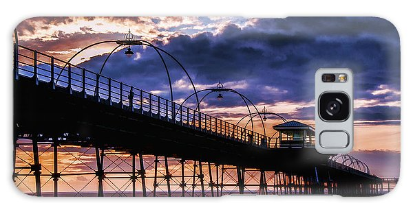 Southport Pier At Sunset Galaxy Case