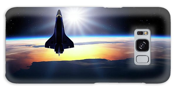 Space Shuttle In Orbit Galaxy Case by Detlev Van Ravenswaay