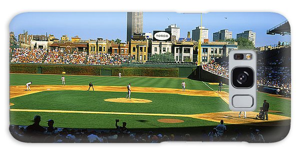 Spectators In A Stadium, Wrigley Field Galaxy Case by Panoramic Images