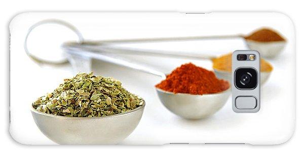 Metal Leaf Galaxy Case - Spices In Measuring Spoons by Elena Elisseeva