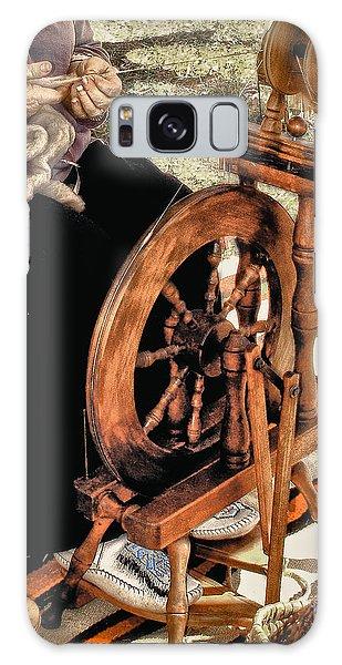 Spinning Wool Galaxy Case