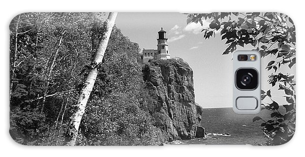 Split Rock Black And White Galaxy Case by Bonfire Photography