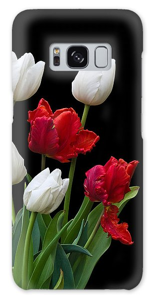 Spring Tulips Galaxy Case by Jane McIlroy