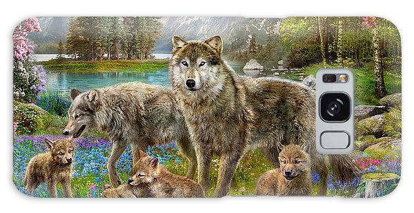 Jan Galaxy Case - Spring Wolf Family by MGL Meiklejohn Graphics Licensing